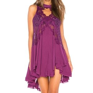 Free People Tell Tale Heart Tunic Lace Dress